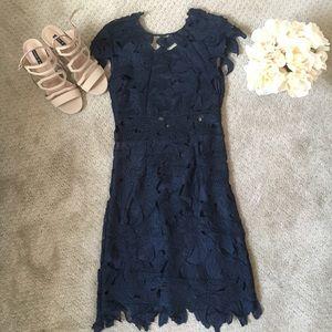 Navy Blue Lace Dress